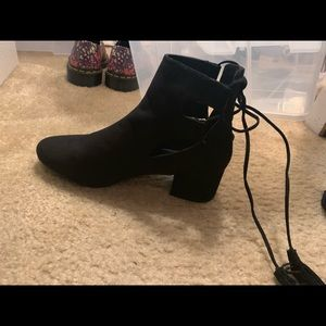 Topshop Kimble lace-up ankle boots